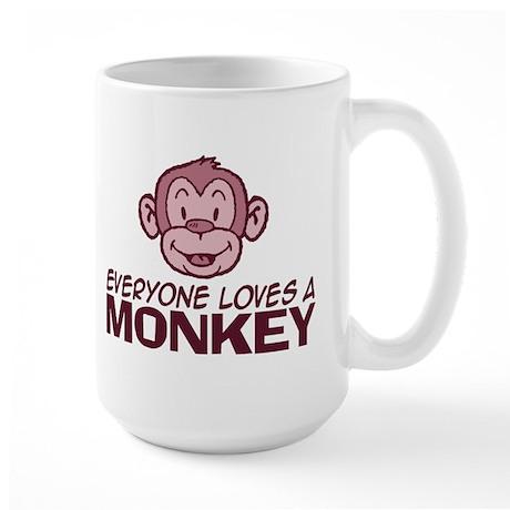 Everyone loves a Monkey Large Mug