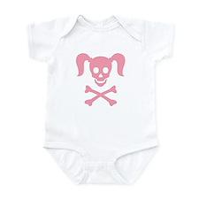 Curly Girlie Skull Infant Bodysuit