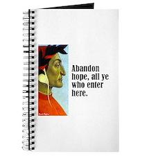 """Dante """"Abandon Hope"""" Journal"""