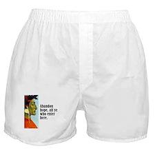 """Dante """"Abandon Hope"""" Boxer Shorts"""
