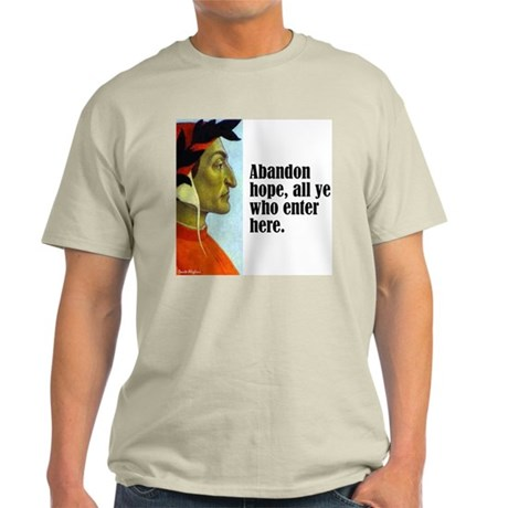 "Dante ""Abandon Hope"" Light T-Shirt"