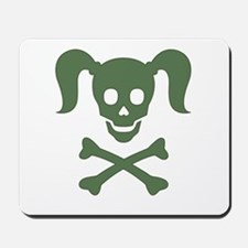 Curly Girlie Skull Mousepad