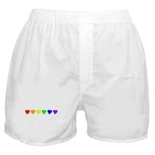 Rainbow Heart Boxer Shorts