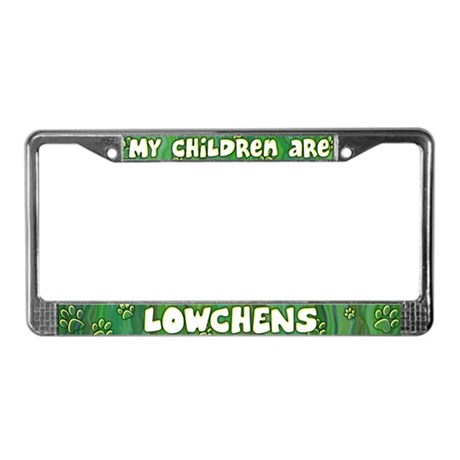 My Children Lowchen License Plate Frame