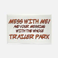 Trailer Park Rectangle Magnet (10 pack)