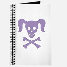 Curly Girlie Skull Journal