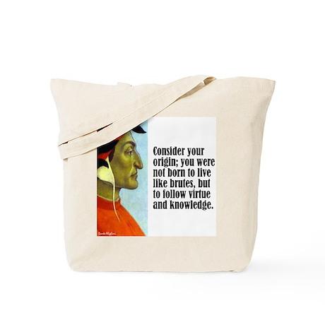 """Dante """"Your Origin"""" Tote Bag"""