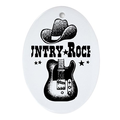 Country Rocker Oval Ornament