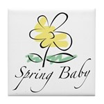 The Spring Baby Tile Coaster
