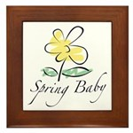 The Spring Baby Framed Tile