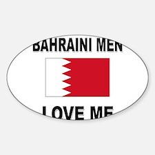 Bahraini Men Love Me Oval Decal