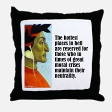 "Dante ""Hottest Places"" Throw Pillow"