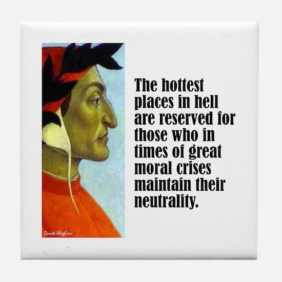 """Dante """"Hottest Places"""" Tile Coaster"""