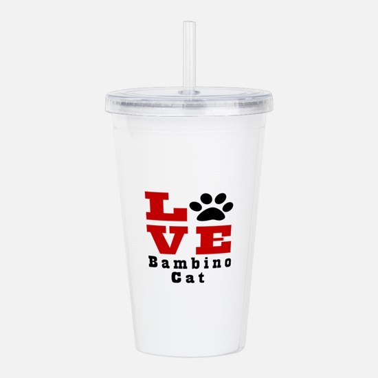 Love Bambino Cat Acrylic Double-wall Tumbler