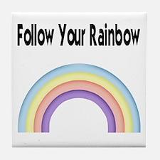 Follow your Rainbow Tile Coaster