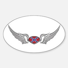 Reble wings Oval Decal