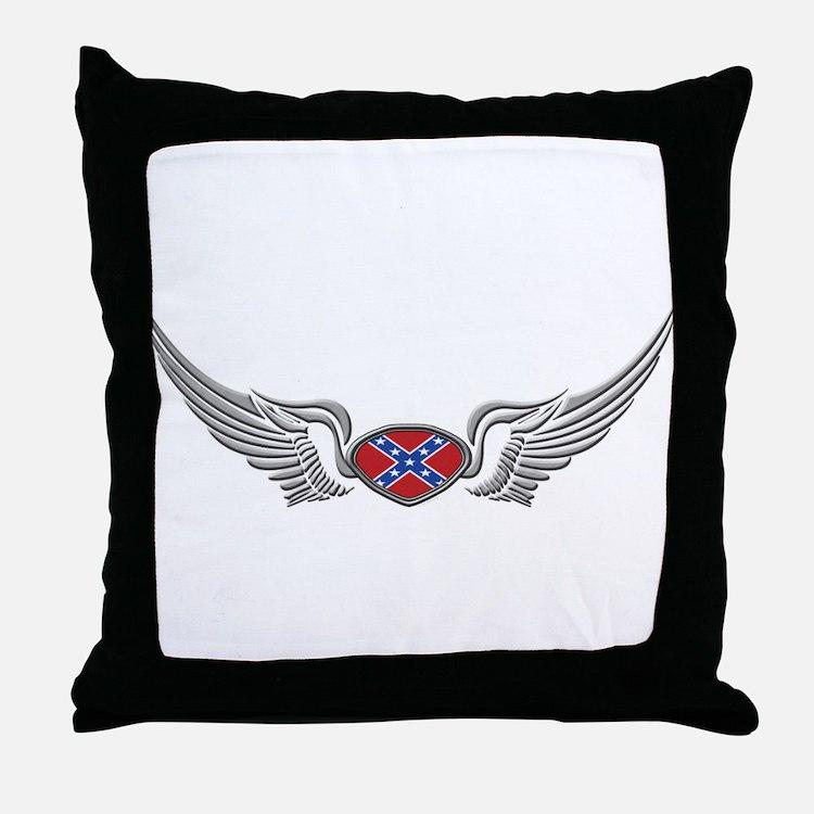 Reble wings Throw Pillow
