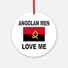 Angolan Men Love Me Ornament (Round)