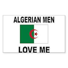 Algerian Men Love Me Rectangle Decal