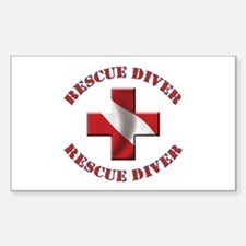 Rescue Diver Rectangle Decal