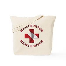 Rescue Diver Tote Bag