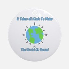 Around the World Ornament (Round)