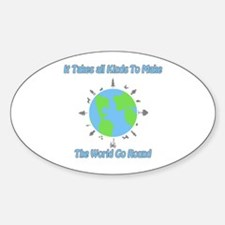 Around the World Oval Decal