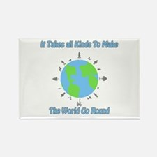 Around the World Rectangle Magnet (10 pack)
