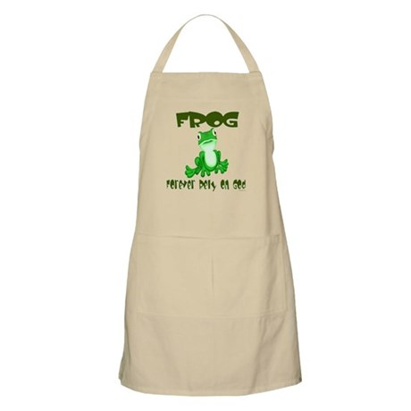 F.R.O.G. -- Forever Rely On God BBQ Apron