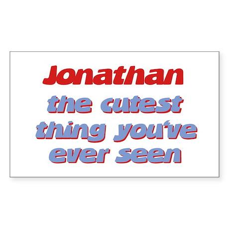 Jonathan - The Cutest Ever Rectangle Sticker