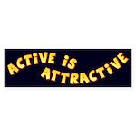 Active Is Attractive Black Bumper Sticker (50 pk)