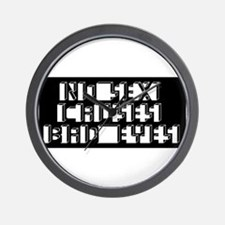 Eye Chart - No Sex Wall Clock