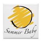 The Summer Baby Tile Coaster