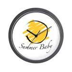 The Summer Baby Wall Clock