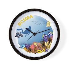 SCUBA Reef Wall Clock