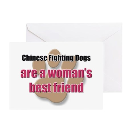 Chinese Fighting Dogs woman's best friend Greeting