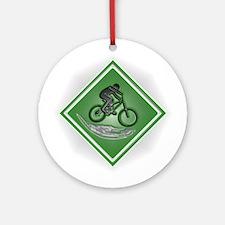 Mountain Biker Ornament (Round)