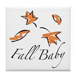 The Fall Baby Tile Coaster