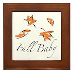 The Fall Baby Framed Tile