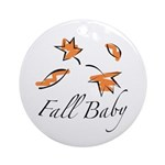 The Fall Baby Ornament (Round)