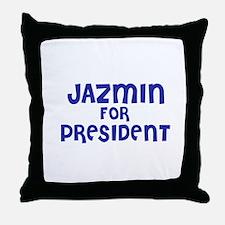 Jazmin for President Throw Pillow