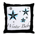 The Winter Baby Throw Pillow