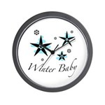 The Winter Baby Wall Clock