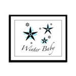 The Winter Baby Framed Panel Print
