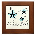 The Winter Baby Framed Tile