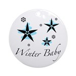 The Winter Baby Ornament (Round)