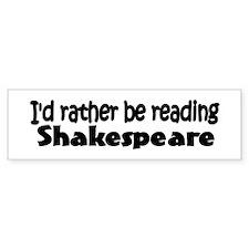 Shakespeare Bumper Bumper Bumper Sticker