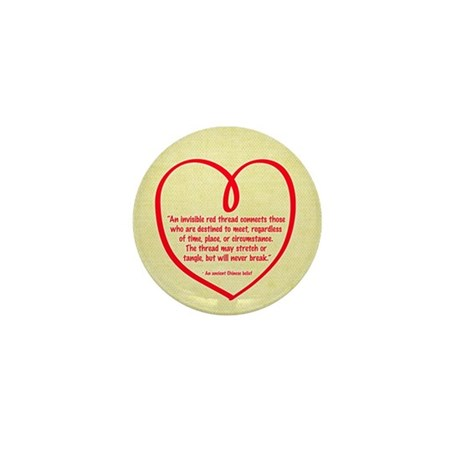 Red Thread Mini Button (10 pack)