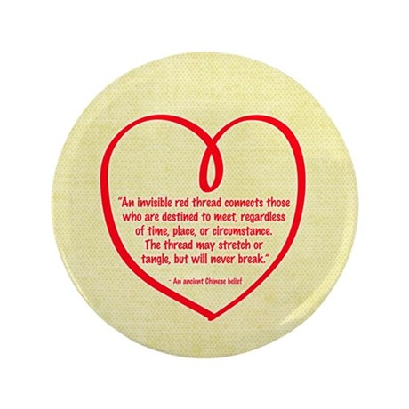"Red Thread 3.5"" Button (100 pack)"