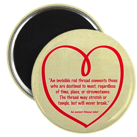 """Red Thread 2.25"""" Magnet (10 pack)"""
